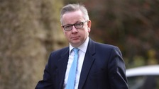 Gove enters Tory leadership contest with swipe at Johnson