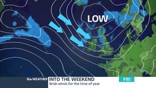 Gusty winds & heavy showers to start July