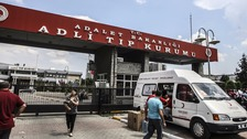 Many of the victims were taken to this hospital in Istanbul.