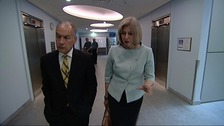 Archive: Theresa May meets ITV News presenter Alastair Stewart