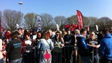 Hopefuls outside the Cardiff City Stadium