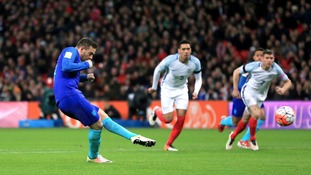 Vincent Janssen scored a penalty for Holland in their 2-1 win against England at Wembley in March.