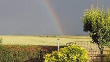 Rainbow over Guyhirn near Wisbech