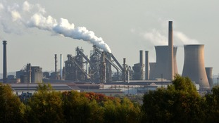 A view of the steel plant in Scunthorpe