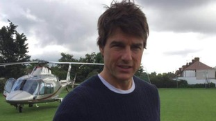 Tom Cruise makes an unexpected landing in a south London field