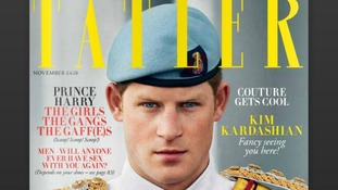 'Man of the Year' Prince Harry pictured on the front cover of Tatler