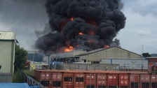 Pocklington aerosol factory fire now under control