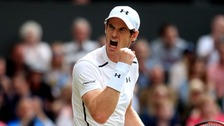Murray through to third round at Wimbledon with straight-sets win