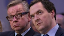 Michael Gove and George Osborne.