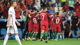 Cristiano Ronaldo and Portugal will meet the winner of Friday night's clash between Wales and Belgium for a place in the final.