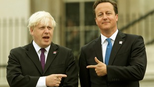 Mayor of London Boris Johnson with Prime Minister David Cameron