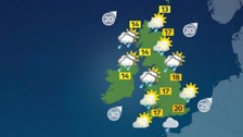 Weather: Another unsettled day with outbreaks of rain