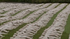 Shrouded figures commemorate Battle of the Somme