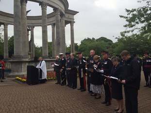 Cathays Park Somme ceremony