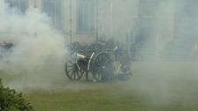 A three-gun salute was held in Westminster, London.