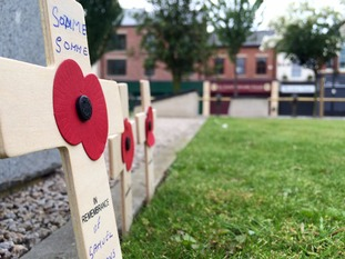 A two minute silence was held at the Hull Cenotaph
