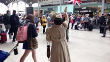 Pop-up performance at Newcastle Central Station.