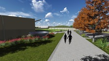 An artist's impression of the Olympic Legacy Park