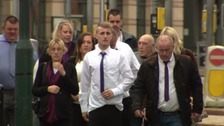 The family of Kayleigh Haywood have arrived at court ahead of the sentencing of two men following her murder.