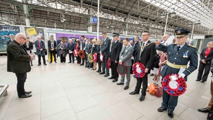 Manchester transport falls silent at Piccadilly station