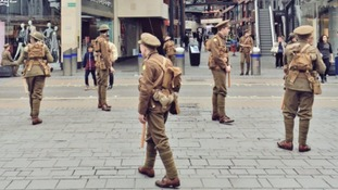 Soldiers appear across the West in a poignant tribute