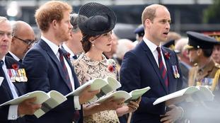 Prince Harry, the Duchess and Duke of Cambridge.