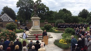 Nottingham High School has unveiled a new plaque for their war memorial