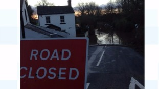 The main road between Carlisle and Newcastle during the December floods