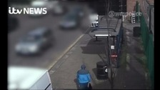 Halal butchers petrol bomber caught on CCTV