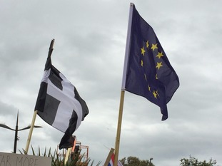 Cornish & EU flag