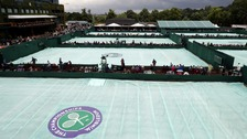 Andy Murray - on a day off - was forced to abandon his practice session because of the rain.