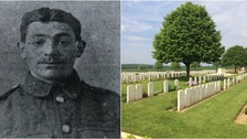 Robert Bailey is laid to rest at the Dantzig Alley cemetery in France.