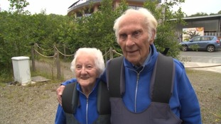 'I thought I was a spaceman' - 90 year old rides UK's fastest zip wire