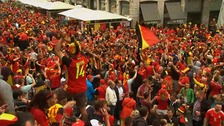 Party atmosphere in Lille ahead of the Wales Belgium match