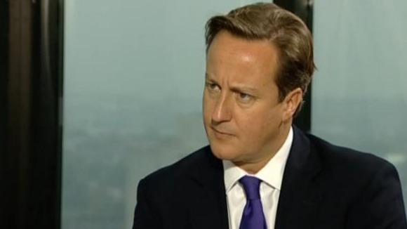 David Cameron speaking to ITV Granada about his Hillsborough apology