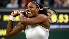 The six-time Wimbledon singles champion claimed a 6-7 6-2 6-4 win on Centre Court.