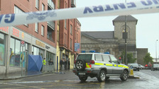The scene of the shooting in Dublin.