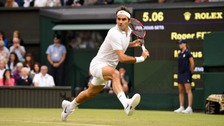 Roger Federer had seen off Britain's Marcus Willis in the second round before taking on Dan Evans in the third.