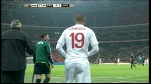 Campbell at Wembley