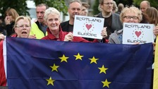 Scotland bucked the national trend and backed remaining in the EU by a wide margin