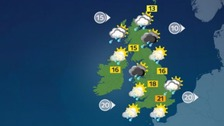 Weather: Blustery showers at times