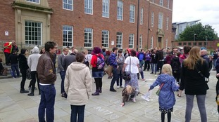 Dozens are gathering in Derby for the rally