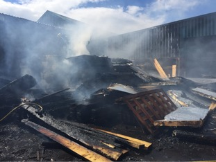 Firefighters are at the Woodstock timber yard in Brierley Hill.