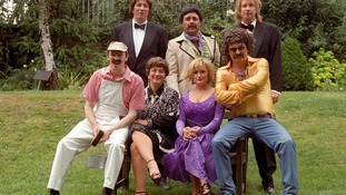 Caroline Aherne with her Fast Show colleagues.