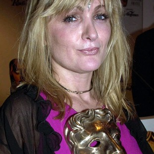 Caroline Aherne with her BAFTA for best comedy performance for The Royle Family.