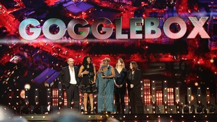 Gogglebox stars accept the award for Best Factual Programme during the 2015 National Television Awards.