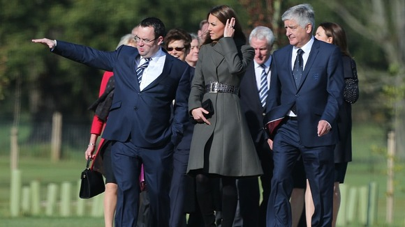 The Duchess of Cambridge is given a tour of St George&#x27;s Park by FA general secretary Alex Horne