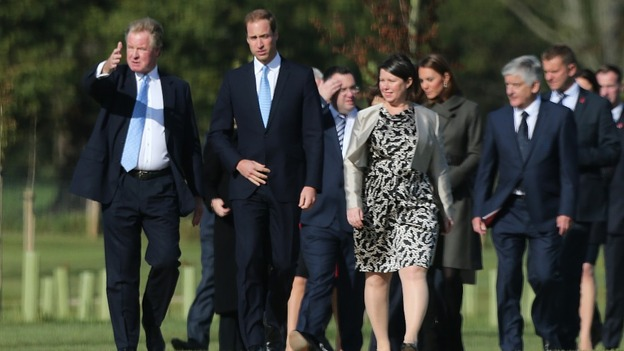 The Duke and Duchess of Cambridge are given a tour of St George's Park