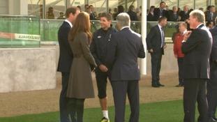 The Duke and Duchess of Cambridge with Steven Gerrard