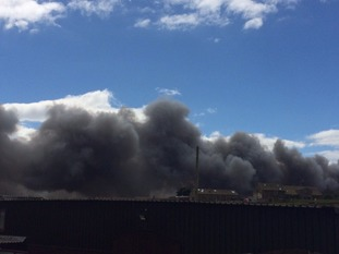 Plumes of smoke